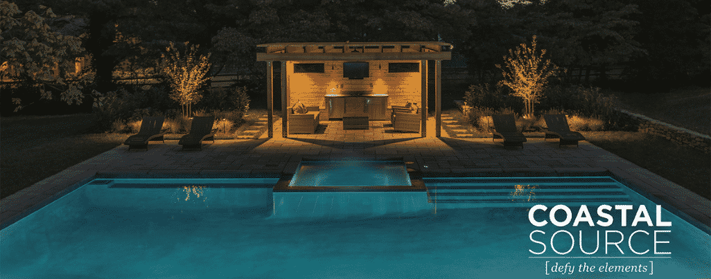 Pool outdoor audio setup